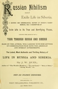 Title page of J.W. Buel's Russian Nihilism and Exile Life in Siberia