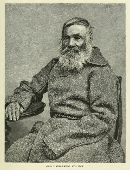 'Old hard-labor convict', Kennan, Siberia and the Exile System, vol. 2, p. 155